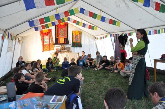 Tibetnachmittag für die Kinder der Pfadfindergruppe Klosterneuburg